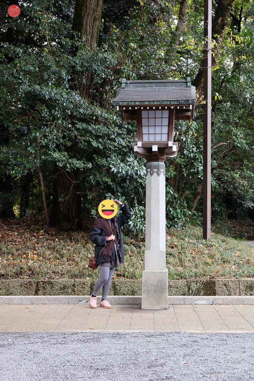 Meiji shrine lamp post.